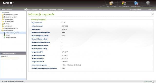 Informacje o systemie