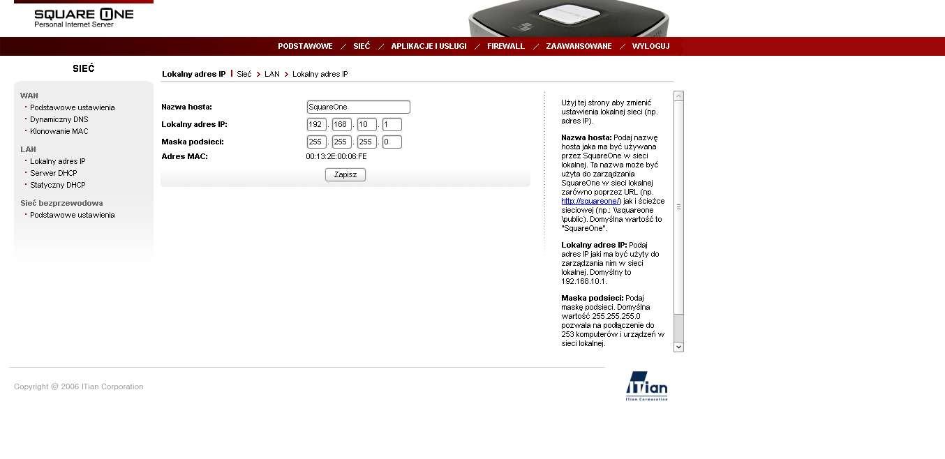 LAN - adres IP